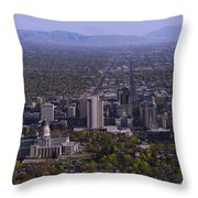 View From Ensign Throw Pillow by Chad Dutson