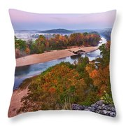 View From Greens Cave Bluff Throw Pillow