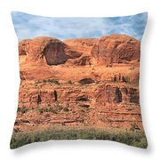 View From Highway 128, Utah Throw Pillow