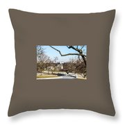 View From John F Kennedys Grave Throw Pillow