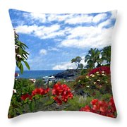 View From Keauhou Kona Throw Pillow