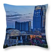 View From Lp Field Throw Pillow