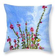 View From Main St Monhegan Throw Pillow