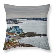 View From Marblehead Lighthouse Throw Pillow