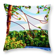 View From Mazengah - Crop Throw Pillow