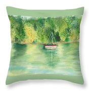 View From Millbay Ferry Throw Pillow
