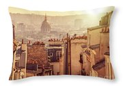 View From Montmartre Throw Pillow