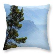 View From Montserrat, Spain Throw Pillow