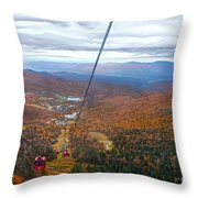 View From Mount Mansfield In Autumn Throw Pillow