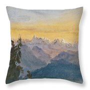 View From Mount Pilatus Throw Pillow