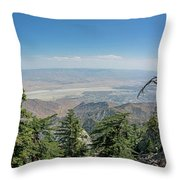 View From Mount San Jacinto Throw Pillow by Ross G Strachan