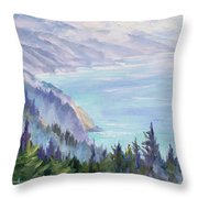 View From Nepenthe Throw Pillow