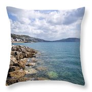 View From North Wall - Lyme Regis Throw Pillow