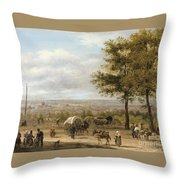 View From Parisian Heights Throw Pillow