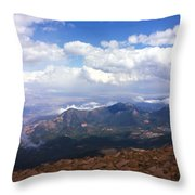 View From Pikes Peak 1964 Throw Pillow