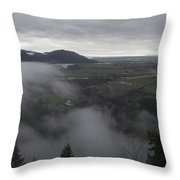 View From Raven Bluffs Throw Pillow