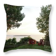 View From Ring Dang Doo South Hero Vermont Throw Pillow