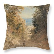 View From Rook's Hill, Kent Throw Pillow