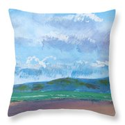 View From Sandy Bay Exmouth Throw Pillow