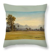 View From Schoenbuehl Toward The Vitznauerstock Throw Pillow