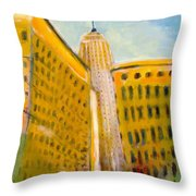 View From The 33 St Throw Pillow