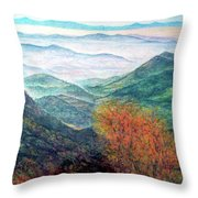View From The Autumnal Belchen   Throw Pillow