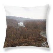 View From The Bluff Throw Pillow
