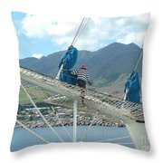 St. Kitts From The Bow Throw Pillow