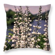 View From The Bridge Of Flowers Throw Pillow