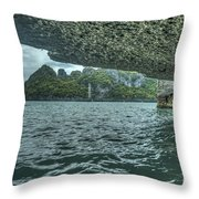 View From The Cave Throw Pillow