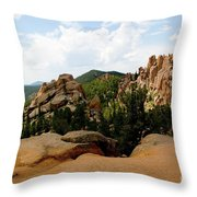 View From The Crags Throw Pillow