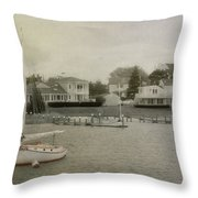 View From The Ferry Throw Pillow