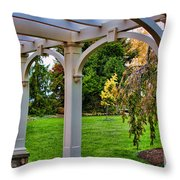 View From The Garden Way Throw Pillow
