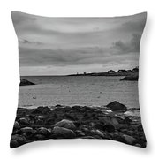 View From The Harbor Throw Pillow