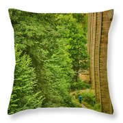 View From The Lllangollen Aqueduct In Wales Throw Pillow