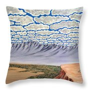 View From The Mesa Throw Pillow