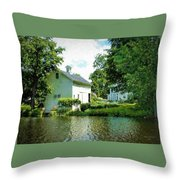 View From The Mill Pond Centerbrook Ct Throw Pillow