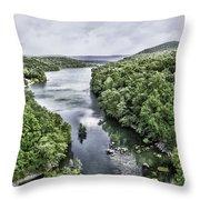 View From The Monksville Bridge Throw Pillow
