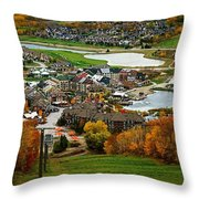 View From The Mountain Throw Pillow