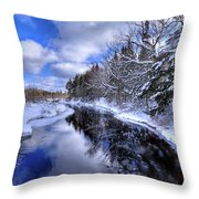 View From The North Street Bridge Throw Pillow