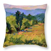 View From The Orchard Throw Pillow