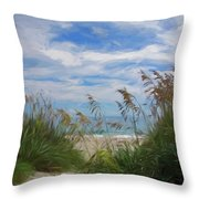 View From The Outer Banks Dunes Throw Pillow