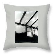 View From The Past Throw Pillow