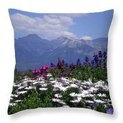 View From The Patio Throw Pillow by Robin Webster