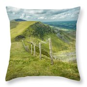 View From The Rangers Path Throw Pillow by Nick Bywater