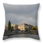 View From The Seine Throw Pillow