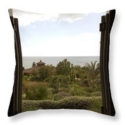 View From The Shed Throw Pillow