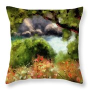 View From The Terrace - Paleokastritsa  Throw Pillow