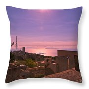 View From The Top In Sicily 2 Throw Pillow