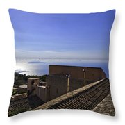 View From The Top In Sicily Throw Pillow